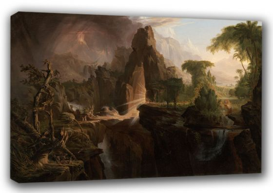 Cole, Thomas: Expulsion From the Garden of Eden. Religious/Biblical Landscape Fine Art Canvas. Sizes: A3/A2/A1 (00379)